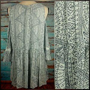torrid Tops - torrid cold shoulder tunic patterned top sz 1